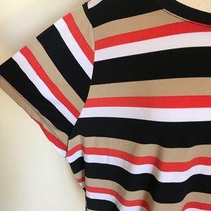 Lane Bryant Tops - Lane Bryant 22/24 Striped Crop T-Shirt Top